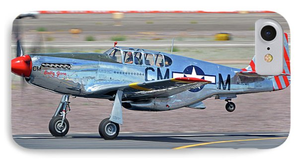 IPhone Case featuring the photograph North American Tp-51c-10 Mustang Nl251mx Betty Jane Deer Valley Arizona April 13 2016 by Brian Lockett