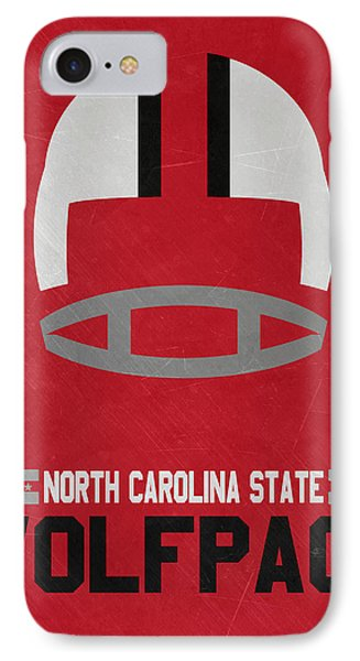 North Carolina State Wolfpack Vintage Football Art IPhone Case