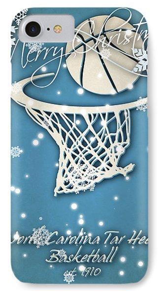 North Carolina Tar Heels Christmas Card 2 IPhone Case by Joe Hamilton