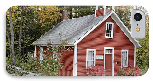 North District School House - Dorchester New Hampshire IPhone Case by Erin Paul Donovan