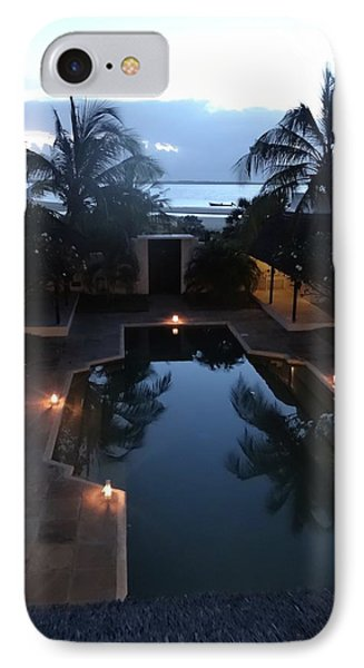 North - Eastern African Home - Sundown Over The Swimming Pool IPhone Case by Exploramum Exploramum