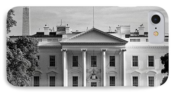 north facade from pennsylvania avenue the white house with washington monument in the background Was IPhone Case