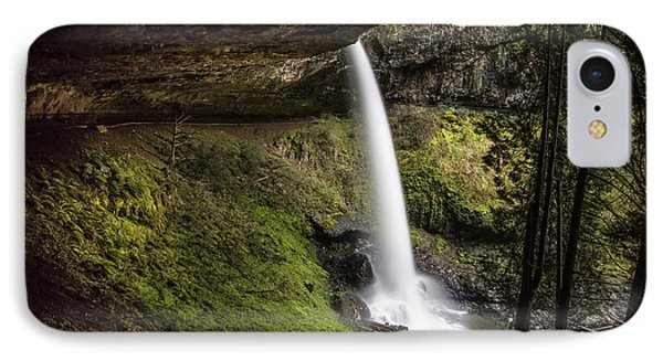 North Falls In Silver Falls State Park IPhone Case by John McGraw