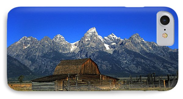 North Moulton Barn Grand Tetons IPhone Case by Gary Langley