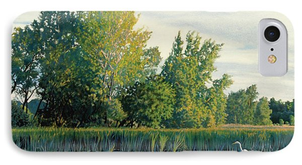 North Of The Grade-great Egret IPhone Case by Bruce Morrison
