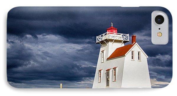 North Rustico Harbour Light IPhone Case by Carolyn Derstine