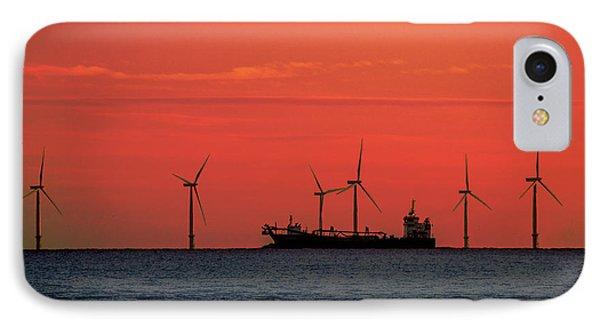 North Sea Wind Farm IPhone Case