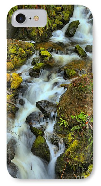 North Vancouver Island Waterfall IPhone Case by Adam Jewell