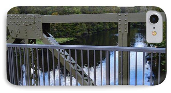 Northbound And Old Bridge IPhone Case by Warren Thompson