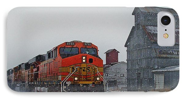 Northbound Winter Coal Drag IPhone 7 Case by Ken Smith