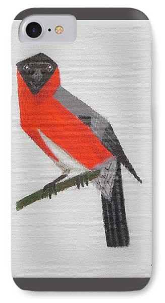 Northern Bullfinch IPhone Case by Tamara Savchenko