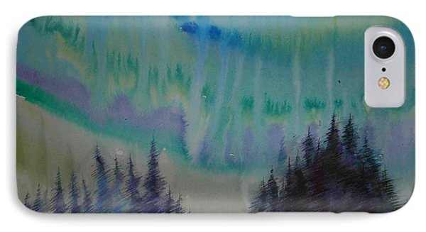 IPhone Case featuring the painting Northern Light by Anna  Duyunova