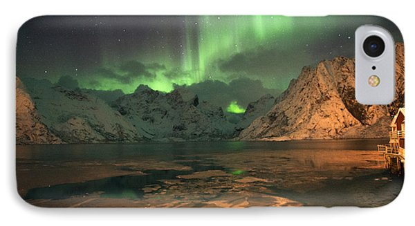 Northern Light In Lofoten, Nordland 1 IPhone Case by Dubi Roman