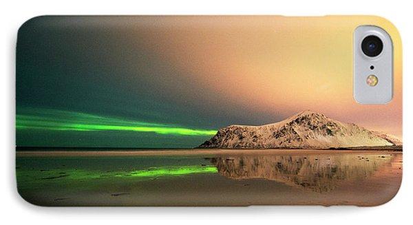 Northern Light In Lofoten Nordland 5 IPhone Case by Dubi Roman
