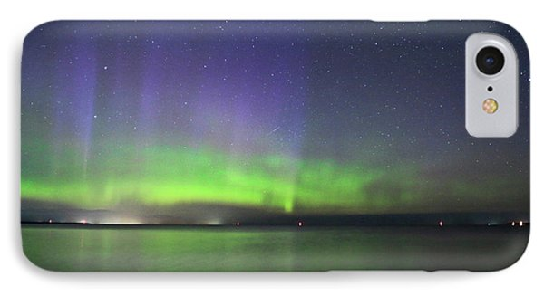 Northern Light With Perseid Meteor IPhone Case by Charline Xia