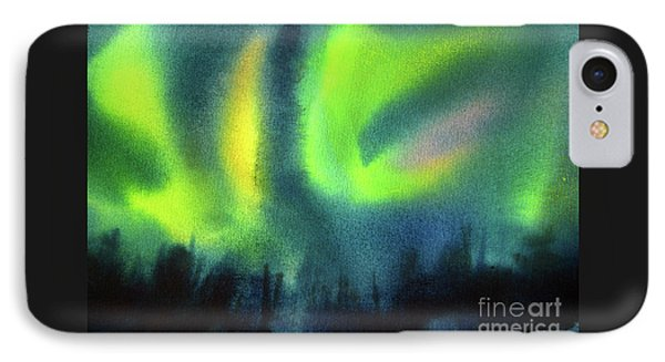 IPhone Case featuring the painting Northern Lights 3 by Kathy Braud