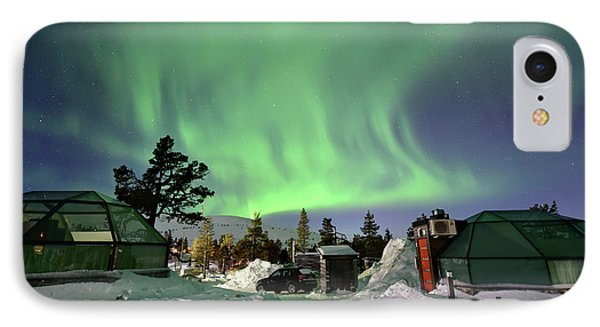 Northern Lights And Glass Igloo IPhone Case by Edwin Verin