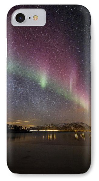 Northern Lights And The Milky Way IPhone Case
