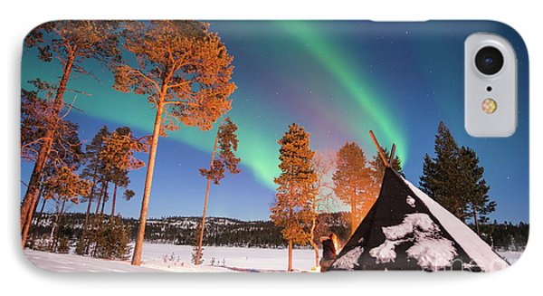 IPhone Case featuring the photograph Northern Lights By The Lake by Delphimages Photo Creations