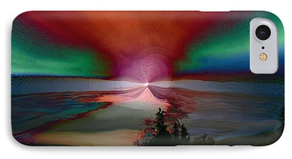 Northern Lights IPhone Case by Linda Sannuti
