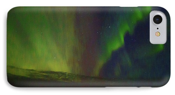 Northern Lights Or Auora Borealis IPhone Case by Allan Levin