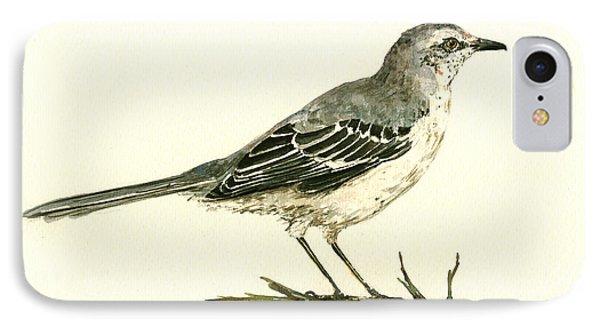 Northern Mockingbird IPhone Case by Juan  Bosco