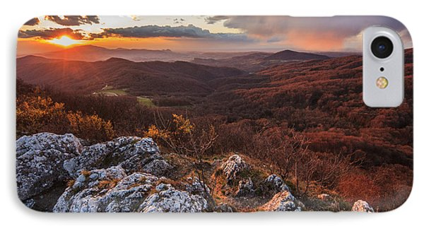 Mountain Sunset iPhone 7 Case - Northern Territory by Davorin Mance