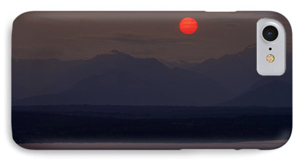 Northwest Red Sunset Over The Olympics IPhone Case