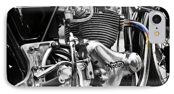 Norton Commando 750cc Cafe Racer Engine IPhone Case by Tim Gainey