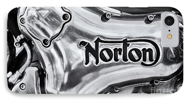 Norton Commando 961 Engine Casing IPhone Case by Tim Gainey