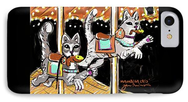 Norumbega Cats IPhone Case