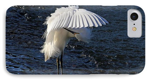 Not Under Here - Birds - Snowy Egret IPhone Case by HH Photography of Florida