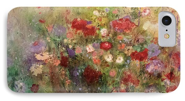 IPhone Case featuring the painting Nothing But Flowers by Frances Marino