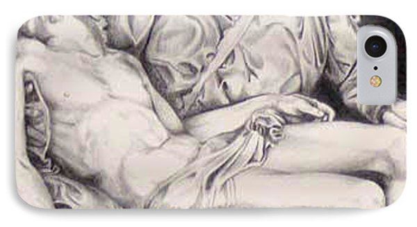 Nothing Can Be Added - Close Up Pieta IPhone Case by Amy S Turner