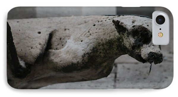 IPhone Case featuring the photograph Notre Dame Bat Gargoyle by Christopher Kirby