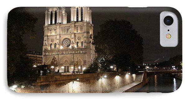 IPhone Case featuring the photograph Notre Dame Cathedral From Petit Pont by Christopher Kirby