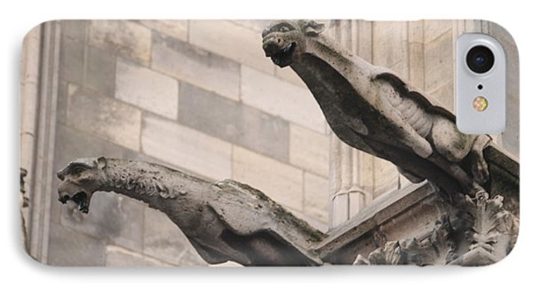 IPhone Case featuring the photograph Notre Dame Cathedral Gargoyles by Christopher Kirby