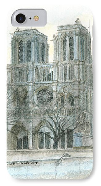 Notre Dame Cathedral In March Phone Case by Dominic White