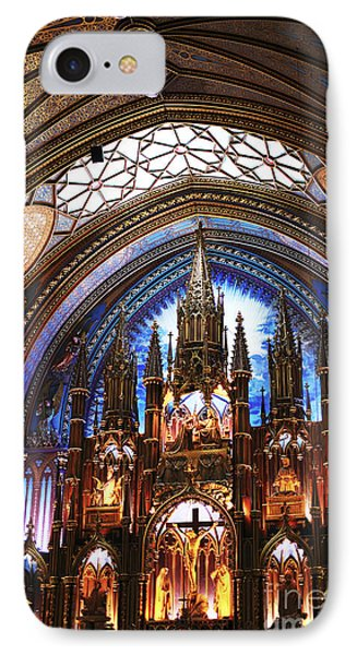 Notre Dame Ceiling Phone Case by John Rizzuto