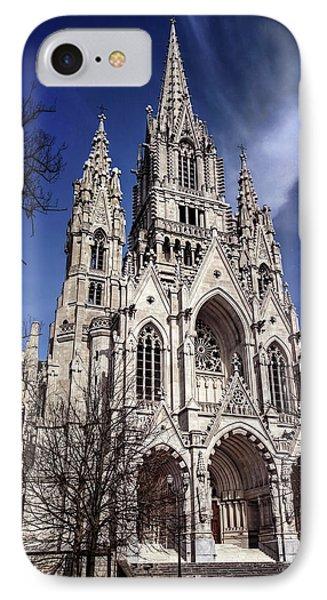 Notre Dame De Laeken In Brussels  IPhone Case by Carol Japp