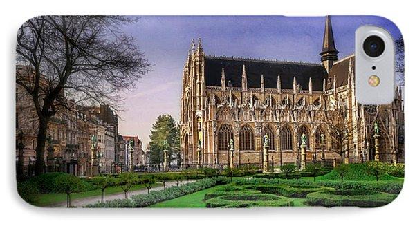 Notre Dame Du Sablon In Brussels  IPhone Case by Carol Japp