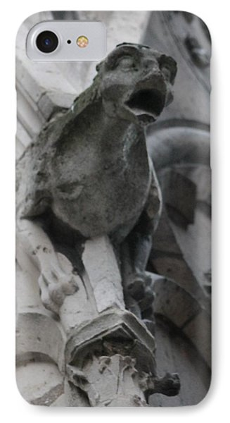 IPhone Case featuring the photograph Notre Dame Gargoyle Grotesque by Christopher Kirby