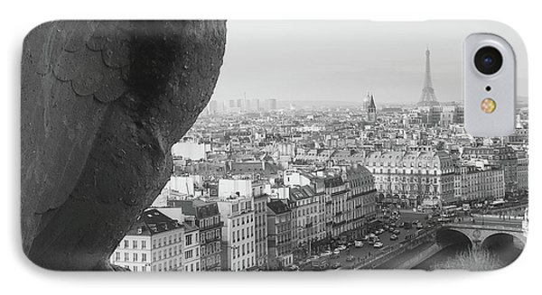 IPhone Case featuring the photograph Notre Dame Gargoyle by Victoria Lakes