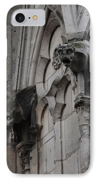 IPhone Case featuring the photograph Notre Dame Grotesques by Christopher Kirby