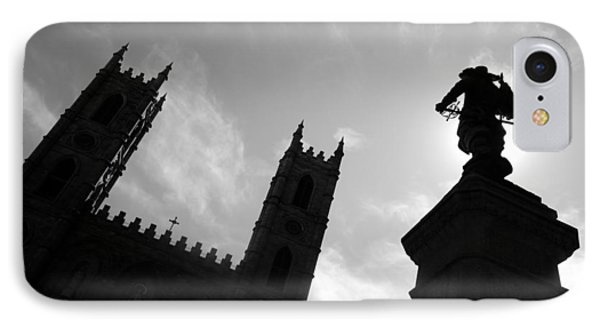 IPhone Case featuring the photograph Notre Dame Silhouette by Valentino Visentini