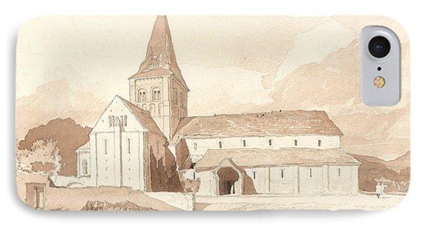 Notre Dame Sur L'eau, Domfront, Normandy IPhone Case by John Sell Cotman