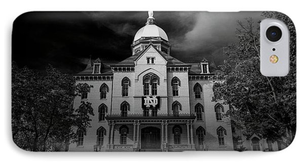 Notre Dame University Black White 3a IPhone 7 Case by David Haskett