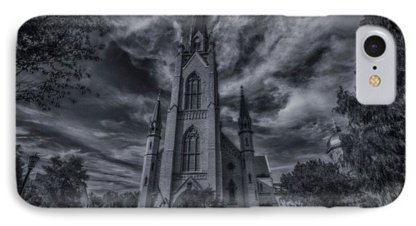 IPhone Case featuring the photograph Notre Dame University Church by David Haskett
