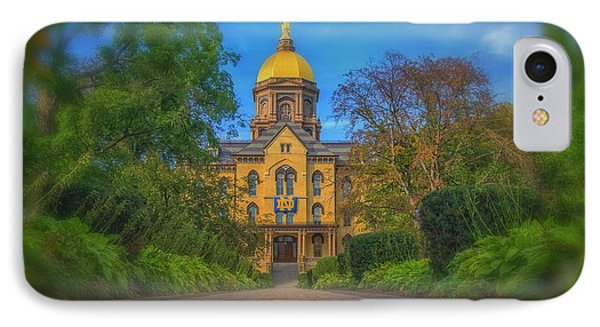 Notre Dame University Q2 IPhone 7 Case by David Haskett