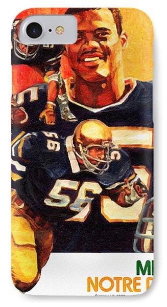 Notre Dame Versus Miami 1982 Program IPhone Case by Big 88 Artworks